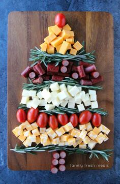 Christmas snack tray.