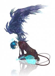 Rin Okumura with wings