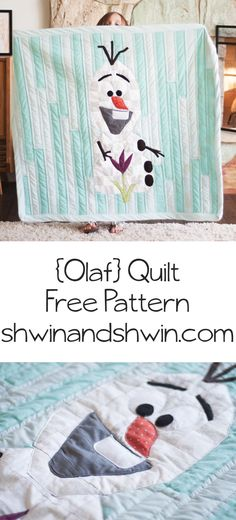 Olaf Frozen Quilt || Free Pattern and Tutorial ||