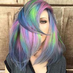 Unicorn hair inspo via @guy_tang on @kasekathleen