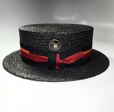 the FKHC GONDOLIER BLACK Men's Hats, Caps Hats, Mens Dress Hats, Hat For Man, Fancy Hats, Boater, Mens Fashion Shoes, Classic Man, Headgear