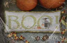 NEW Scary Mouse : With Thy Needle Country Stitches counted cross stitch patterns Halloween October hand embroidery by thecottageneedle