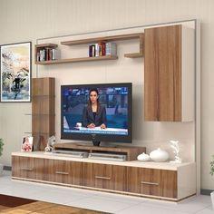 Riva tv Ünitesi Ünitechi home furniture Tv Unit Furniture Design, Tv Unit Interior Design, Tv Furniture, Tv Wall Design, Tv Unit Decor, Tv Wall Decor, Tv Wanddekor, Tv Wall Cabinets, Modern Tv Wall Units
