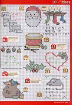 Christmas motifs Xmas Cross Stitch, Cross Stitch Christmas Ornaments, Cross Stitch Needles, Cross Stitch Cards, Cross Stitch Samplers, Christmas Embroidery, Christmas Cross, Cross Stitching, Cross Stitch Embroidery