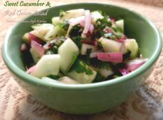 Melissa's Southern Style Kitchen: Sweet Cucumber  Red Onion Salad