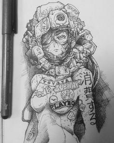 Realistic Drawings, Art Drawings Sketches, Goddess Art, Cyberpunk Art, Anime Sketch, Horror Art, Character Drawing, Character Design Inspiration, Sword Art Online