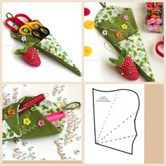 Trendy sewing fabric how to use ideas Sewing Case, Sewing Kit, Sewing Hacks, Sewing Tutorials, Sewing Patterns, Sewing Tools, Fabric Crafts, Sewing Crafts, Sewing Projects