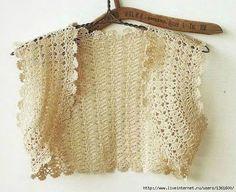 Crochet beige bolero ♥LCT-MRS♥ with diagram