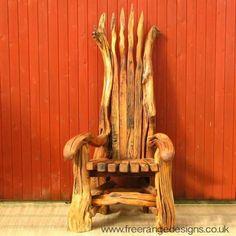 GIANT STORYTELLING CHAIR ❤Wedding, Storytellers, Garden or Indoor Wooden Throne