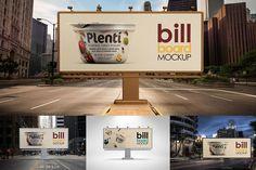 Bill Board Mock-Up by alexvisual on Creative Market