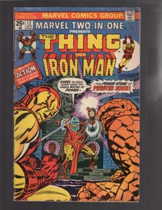 MARVEL TWO-IN-ONE #12 THE THING, IRON MAN AVENGERS FANTASTIC FOUR MARVEL COMICS