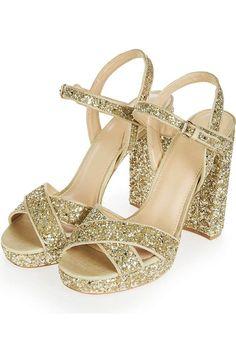 420116520167 Main Image - Topshop Major Glitter Platform Sandal (Women) Glitter Shoes