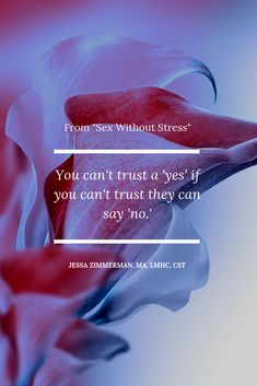 It's critical to be able to say no; it's the foundatiion of trust in a relationship. My book, Sex without stress; A couple's guide to overcoming disappointment, avoidance & pressure is a resource for good couples who are struggling with sex. Best Couple, My Books, Disappointment, Stress, Relationship, Sayings, Couples, Movie Posters, Learning