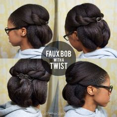 faux bob protective style with instructions
