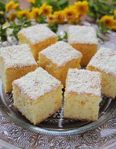 Prajitura pufoasa cu portocale - Desert De Casa - Maria Popa Sweets, Gummi Candy, Candy, Goodies, Treats, Deserts