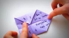 doing a paper fortune teller - YouTube