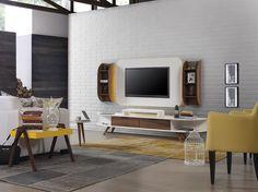 Sönmez Home | Modern Duvar Duvar Ünitesi Takımları | Ivory Tv Ünitesi