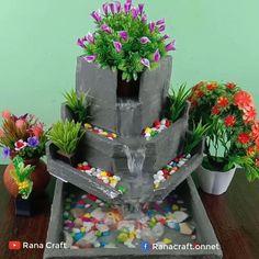 Diy Crafts For Home Decor, Diy Crafts Hacks, Diy Crafts For Gifts, Diy Arts And Crafts, Creative Crafts, Diy Water Fountain, Diy Garden Fountains, Garden Crafts, Diy Garden Decor
