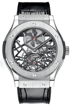 The #Hublot Classic Fusion Skeleton Tourbillon -
