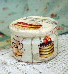 Glass jar handmade for tea strawberry cake - Tea jar, coffee sign, kitchen jar, cookie jar, coffee lover gift, tea pot, handmade jar by RussianshawlRustic on Etsy