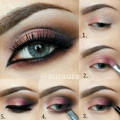 Beautiful makeup step by step by @auraure 1⃣Brows using Brow Genius waterproof
