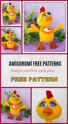 Amigurumi chicken free pattern is waiting for you in this article. We continue to share the latest amigurumi recipes. Crochet Wall Art, Knit Or Crochet, Free Crochet, Easter Crochet Patterns, Crochet Patterns Amigurumi, Crochet Chicken, Crochet Disney, Stuffed Toys Patterns, Crochet Projects