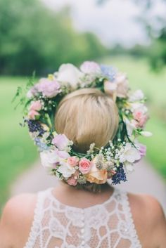 Obsessed with this flower crown: http://www.stylemepretty.com/little-black-book-blog/2014/11/06/quintessential-english-garden-wedding-inspiration/ | Photography: CJK Visuals - http://www.cjkvisuals.com/