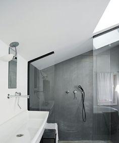 Dachschräge | Badezimmer | Pinterest | Badezimmer-einrichtung ... Badezimmer Im Dachgeschoss Dachschrge