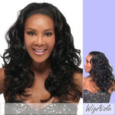 HW45V Vivica A Fox  Synthetic Half Wig in DARK BROWN -- You can get additional details at the image link.Note:It is affiliate link to Amazon.