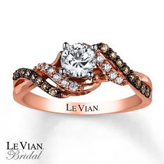 Kay - Le Vian Engagement Ring 3/4 ct tw Diamonds 14K Strawberry Gold