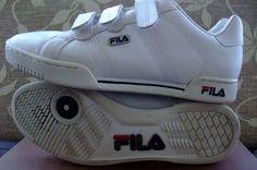 FILA ROMA Tenis Sneakers EURO  42  UK 8 white navy red #FILA #tenis