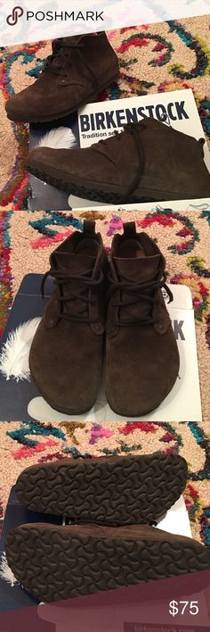 HTF BIRKENSTOCK DUNDEE BOOT Awesome pair of preloved BIRKENSTOCK DUNDEE boots in size 39. Sadly reposhing due to being way too big for me. Bummer. ⭐️THESE RUN BIG!!!⭐️If you are a size 9/9.5 they will be perfect for you!!!! I don't recommend you purchase if you're less than that because they'll be too big (sadly😔). No box. You can find these brand new for the full retail price of $160+ online elsewhere...get them here for a steal!!! 🍂POSH ONLY🍂 Birkenstock Shoes Ankle Boots & Booties