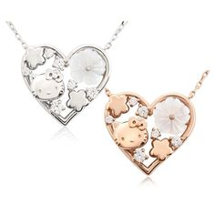 Hello Kitty Sanrio Flower Bouquet Necklace Pendant made in Japan Free Shipping #HelloKitty