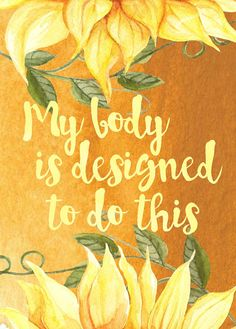 Items similar to Sunflowers - Positive Birth Affirmation cards - birth and pregnancy on Etsy