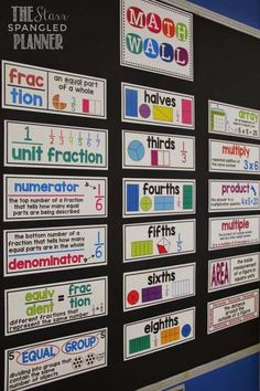 Fourth Grade Math, 4th Grade Classroom, Classroom Walls, Classroom Ideas, Seasonal Classrooms, Future Classroom, Ks2 Classroom, Math Classroom Decorations, Classroom Organization