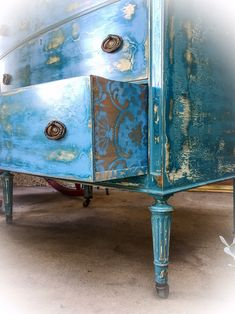 Large, French, Antique Dresser, distressed, shabby chic dresser, french country dresser, blue dresser, french dresser, painted furniture by ReincarnatedwithLove on Etsy https://www.etsy.com/listing/469467263/large-french-antique-dresser-distressed #shabbychicdressersblue