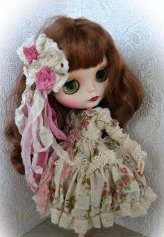 Set for Blythe. Garden Rose. Dress pantaloons and