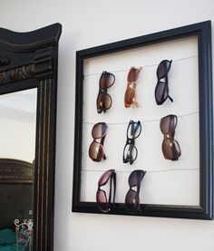 ways to store sunglasses