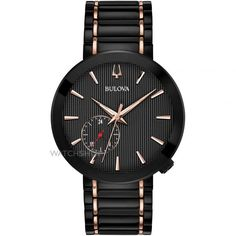 Bulova Special Latin Grammy Edition Modern Womens Watch Black/Rose Gold Black IP Plated Stainless Steel Case -- Visit the image link more details. (This is an affiliate link) Modern Watches, Watches For Men, Ladies Watches, Sport Watches, Luxury Watches, Bulova Watches, Watch Model, Watch Brands, Stainless Steel Bracelet