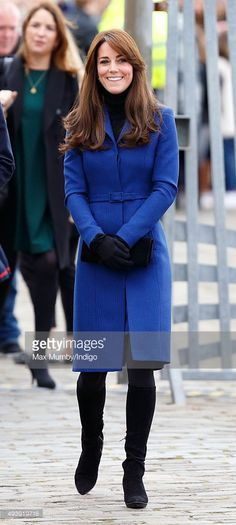 Catherine, Duchess of Cambridge visits the Royal Research Ship 'Discovery', which carried Scott and Shackleton on their first expedition to the Antarctic on October 23, 2015 in Dundee, Scotland.