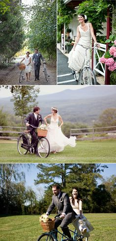 If the wedding ends up not in winter, this could be our thing/theme...bicycles.  We love to bike together.