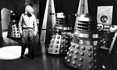 william hartnell | William Hartnell as the Doctor with the Daleks in 1963. Photograph ... #WilliamHartnell