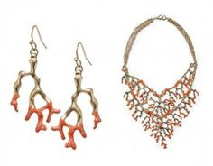 Sabine Coral Statement Jewelry///