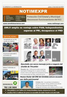 La Información más destacada con NOTIMEXPR. Jueves 12 de Enero - http://www.esnoticiaveracruz.com/la-informacion-mas-destacada-con-notimexpr-jueves-12-de-enero/