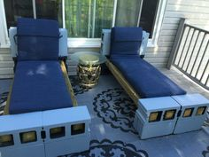 Cinder block outdoor furniture Diy Patio Furniture Cheap, Modern Outdoor Furniture, Outdoor Rooms, Outdoor Living, Outdoor Decor, Cinder Block Furniture, Cinder Block Garden, Backyard Patio Designs, Filing