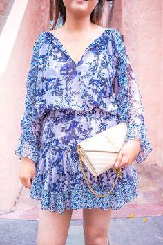 Misa eliza dress | Saint Laurent wallet on chain | Tiffany Pearl studs | espnaola way miami | miami fashion blogger | misa los angeles | Misa los angeles eliza dress