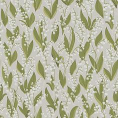 Lily of the valley wallpaper from Sandbergs is a fun and romantic design that comes in three different colors, grey, black and beige. wallpaper Lily of the valley wallpaper-light grey Grey Wallpaper, Flower Wallpaper, Pattern Wallpaper, Sandberg Wallpaper, Feature Wallpaper, Flower Power, Virginia Creeper, Motif Floral, Art