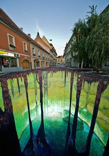 The third of Edgar Mueller's cave project can be found in Ptuj, Slovenia. The mural was completed in four days right in time for the Culture...
