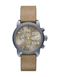 Diesel DZ5462 Womens Watches with light brown leather strap