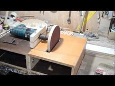 How to make a disc sander using a drill support and a sanding disc. - YouTube